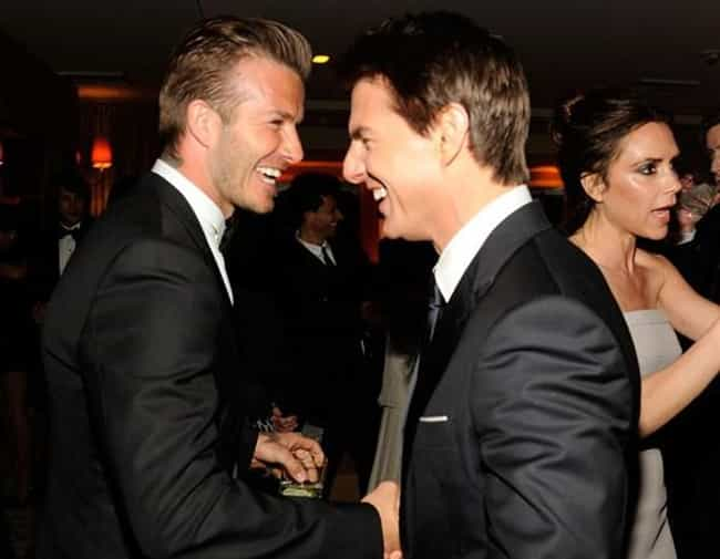 David Beckham is listed (or ranked) 3 on the list Famous Friends of Tom Cruise