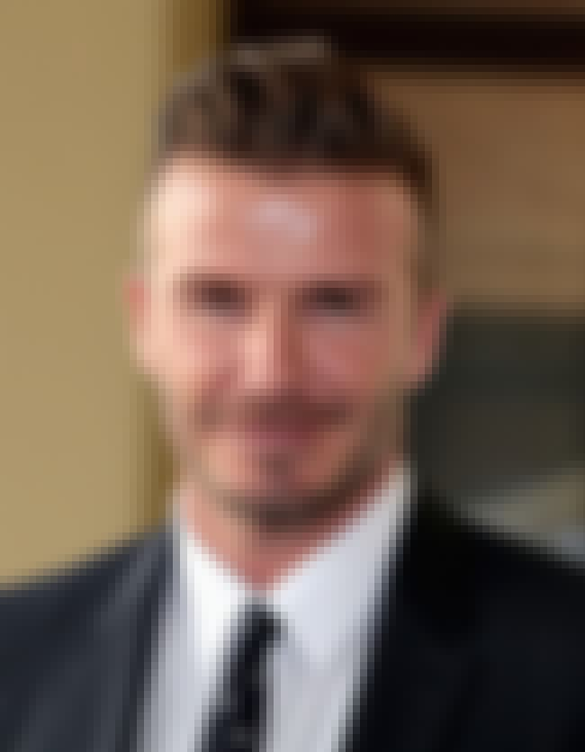 David Beckham is listed (or ranked) 1 on the list Famous Male Soccer Players