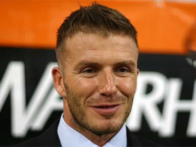 David Beckham is listed (or ranked) 4 on the list 17 Male Athletes Who Model