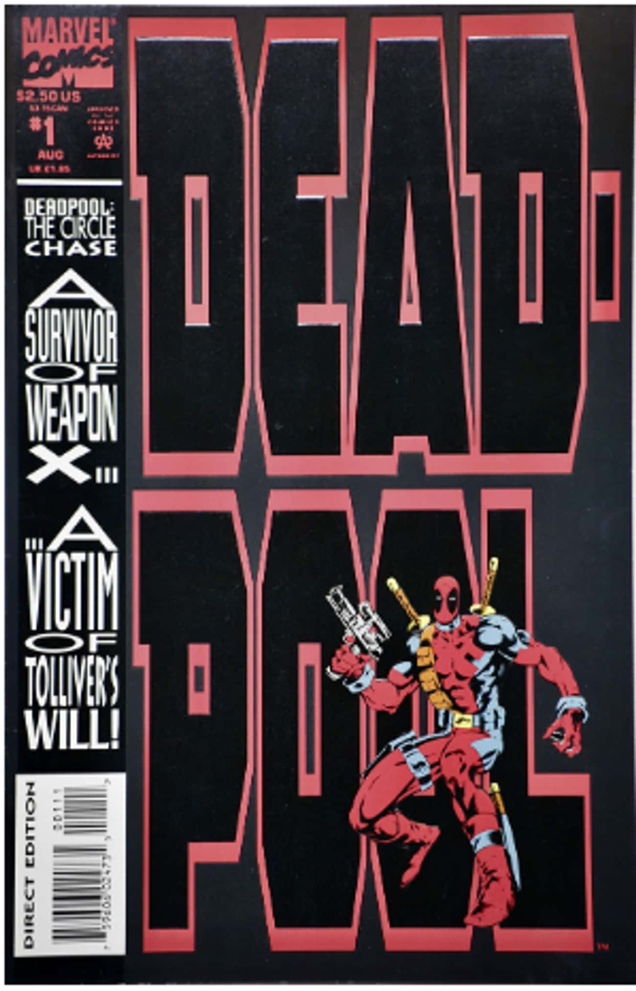 Deadpool is listed (or ranked) 3 on the list The Craziest Comic Book Characters, Ranked