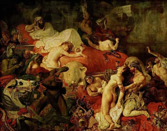 Death of Sardanapalus is listed (or ranked) 3 on the list Famous Romanticism Paintings