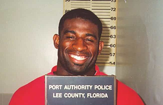 Deion Sanders is listed (or ranked) 3 on the list The Most Amusing Athlete Mug Shots
