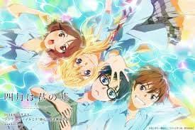 Shigatsu wa Kimi no Uso on Random Best Romance Anime