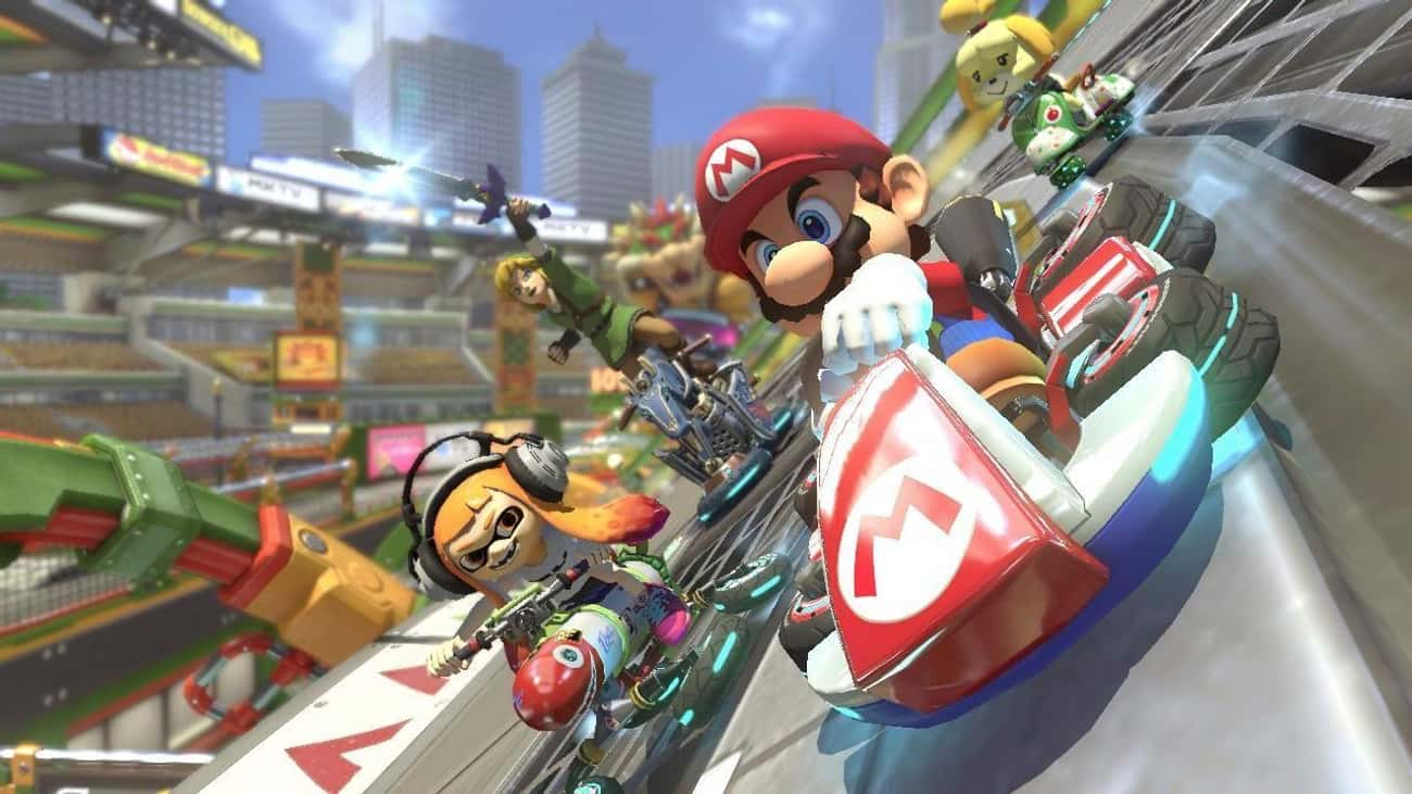 Mario Kart 8 is listed (or ranked) 2 on the list The Most Popular Couch Games For The Switch Right Now