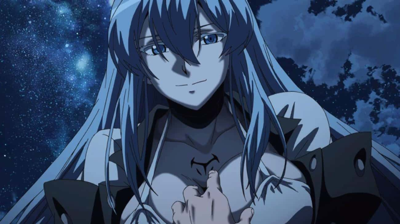 Esdeath - 'Akame Ga Kill!& is listed (or ranked) 4 on the list 14 Anime Villains That Deserve Their Own Series