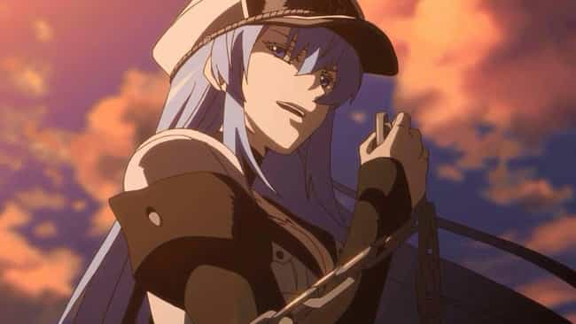 Esdeath is listed (or ranked) 1 on the list The 20 Greatest Femme Fatale Anime Characters of All Time