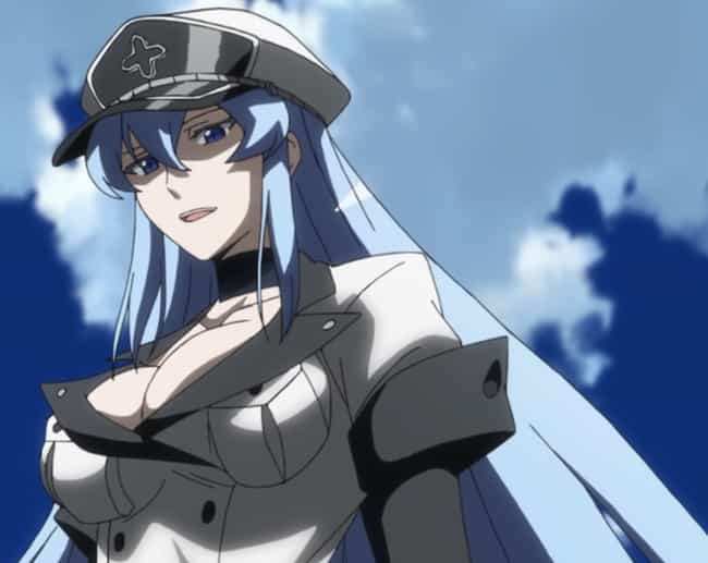 Esdeath Is Listed Or Ranked 4 On The List Most Hardcore Female Anime