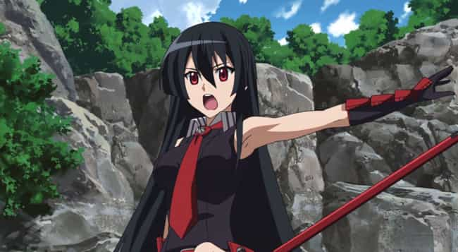 Akame is listed (or ranked) 3 on the list The Most Powerful Female Anime Characters of All Time