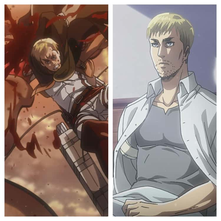 Erwin Smith's Arm Was Swallowed By A Titan In 'Attack On Titan'