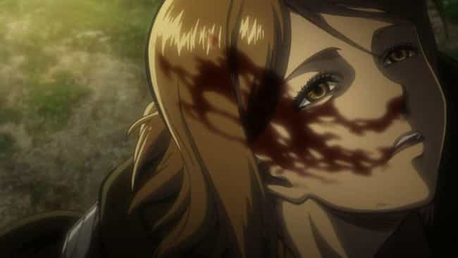 Petra Ral is listed (or ranked) 2 on the list The 16 Most Traumatic Attack On Titan Deaths (So Far)