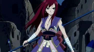 Erza Scarlet - 'Fairy Tail' is listed (or ranked) 1 on the list The Most Powerful Female Anime Characters of All Time