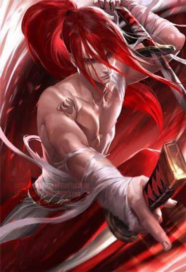 Erza Scarlet - 'Fairy Tail' is listed (or ranked) 1 on the list 20+ Popular Anime Girls Drawn As Male Characters