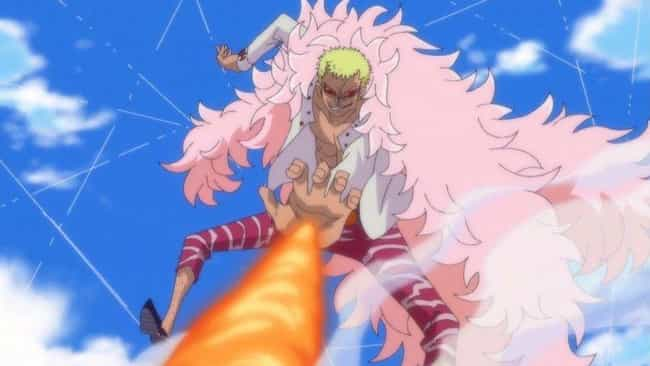 Donquixote Doflamingo is listed (or ranked) 3 on the list 20 Great Anime Characters Who Can Fly (Excluding DBZ)