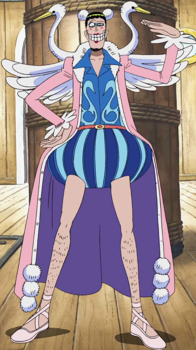 Bentham / Mr. 2 Bon Clay is listed (or ranked) 1 on the list 14 Anime Characters With Terrible Fashion Sense