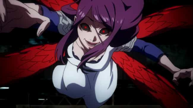 Rize Kamishiro is listed (or ranked) 3 on the list 13 'Gluttonous Villain' Characters Who Are Obsessed With Eating