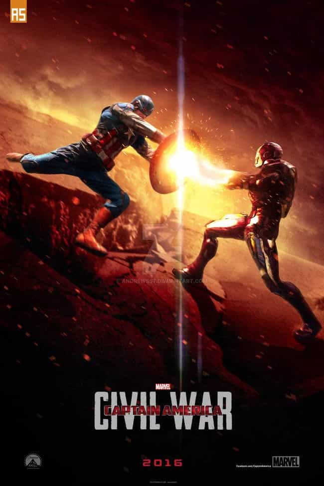 Captain America: Civil War is listed (or ranked) 4 on the list Fan Made Superhero Poster That Are Better Than The Real Ones