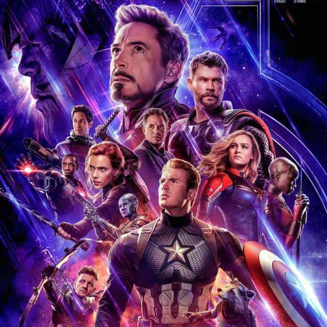 Avengers: Endgame is listed (or ranked) 2 on the list The Coolest Movie Posters for 2019 Films
