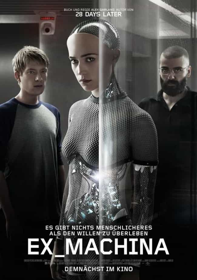Ex Machina is listed (or ranked) 3 on the list 10 Blockbuster Film Scenarios You Can Live In Real Life
