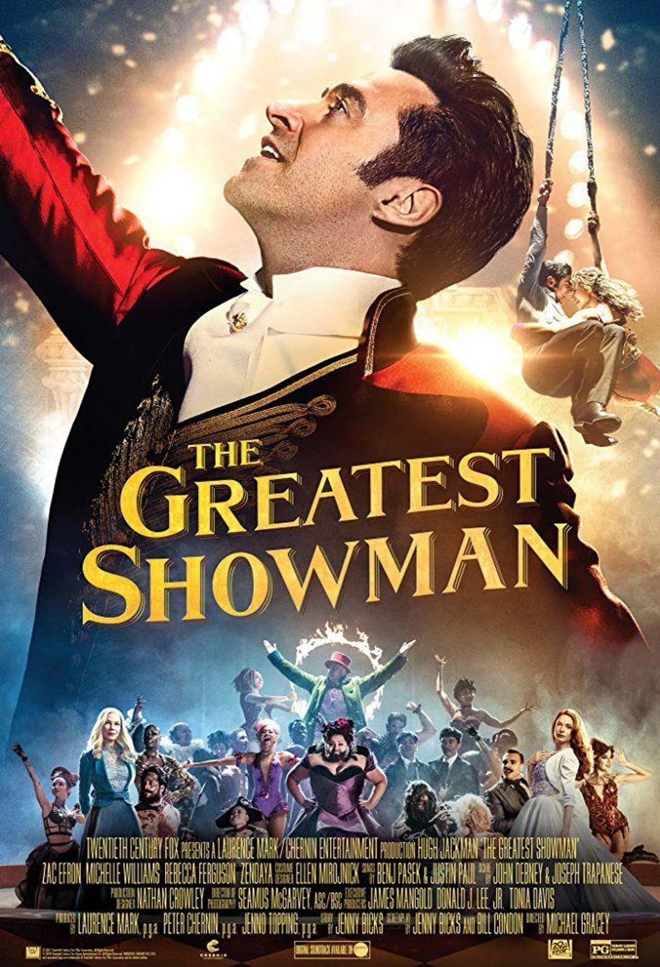 The Greatest Showman is listed (or ranked) 3 on the list The Best Recent Musical Shows & Movies