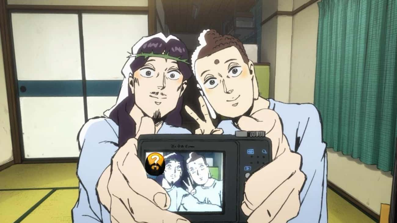 In Saint Young Men, Jesus And  is listed (or ranked) 3 on the list 13 Times Religious Figures Showed Up in Anime As Amazing Characters
