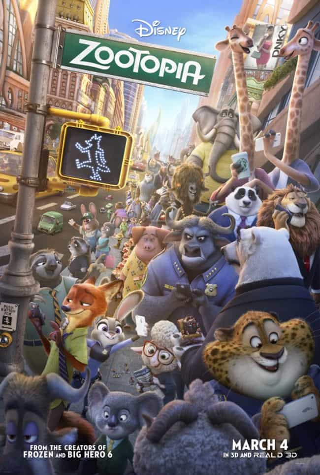 Zootopia is listed (or ranked) 3 on the list The Best Kid Movies Catered to Adult Humor