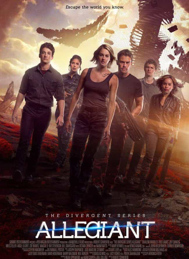 The Divergent Series: Allegian... is listed (or ranked) 3 on the list The Best Movies From The 'Divergent' Franchise