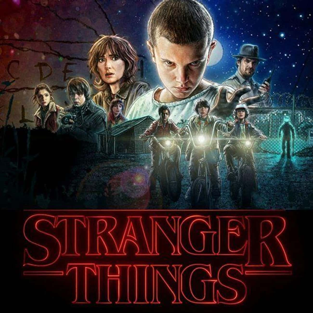 Stranger Things is listed (or ranked) 1 on the list American TV Shows That Would Make Amazing Anime Series