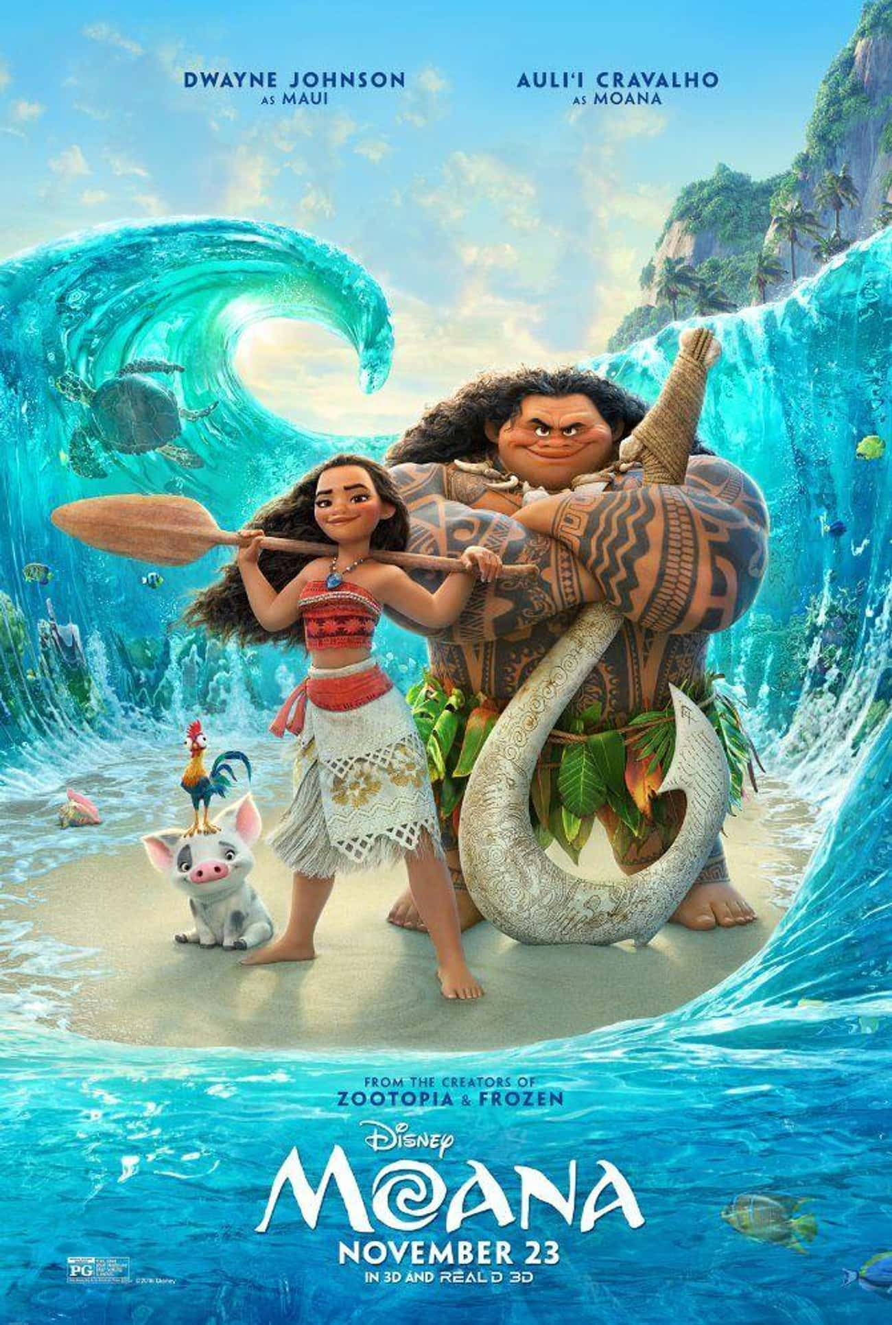 Moana is listed (or ranked) 3 on the list The Best Recent Musical Shows & Movies