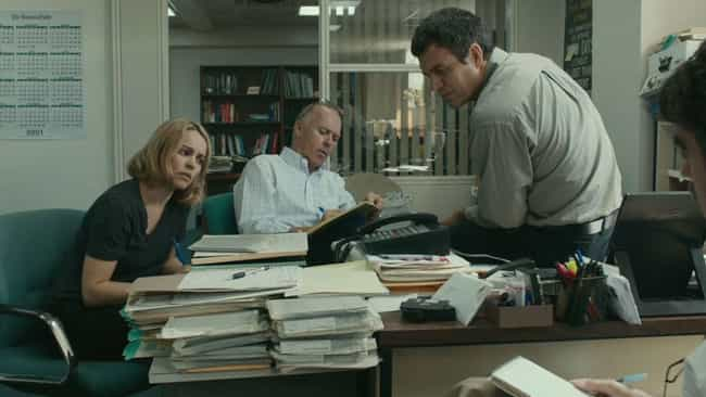 Spotlight is listed (or ranked) 8 on the list 15 Movies Only Boring People Find Boring
