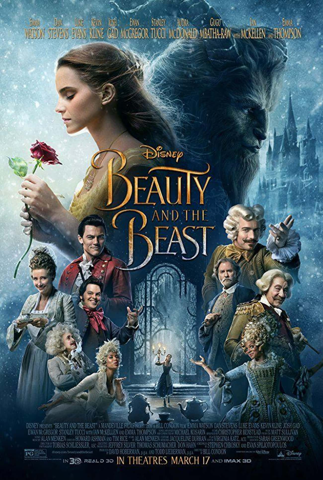 Beauty and the Beast is listed (or ranked) 4 on the list The Best Recent Musical Shows & Movies