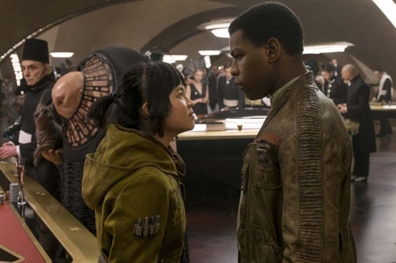 """Rose And Finn In 'Star War is listed (or ranked) 4 on the list Movie Characters Who Said """"I Love You"""" Way, Way Too Quickly, Ranked By How Fast They Said It"""