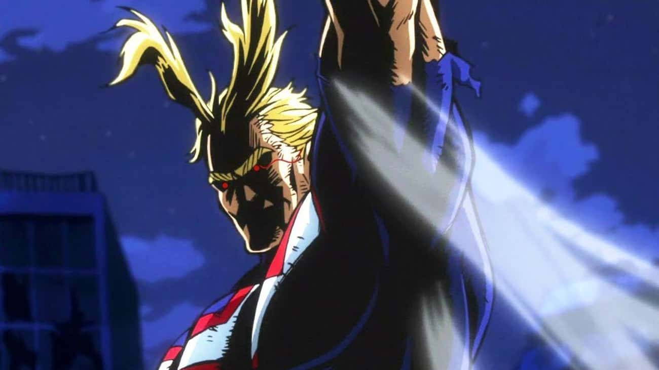 All Might Battles One For All  is listed (or ranked) 1 on the list The 10 Craziest Anime Moments of 2018