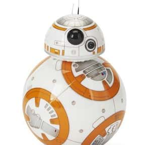 BB-8 is listed (or ranked) 5 on the list The Cutest Robots In Movies And TV, Ranked