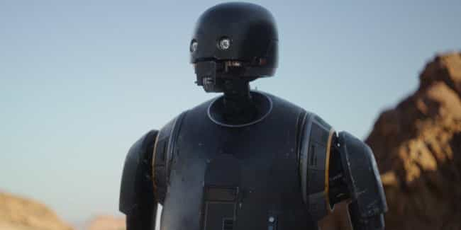 K-2SO is listed (or ranked) 4 on the list 'Star Wars' Droids, Ranked By How Useful They'd Be In Real Life