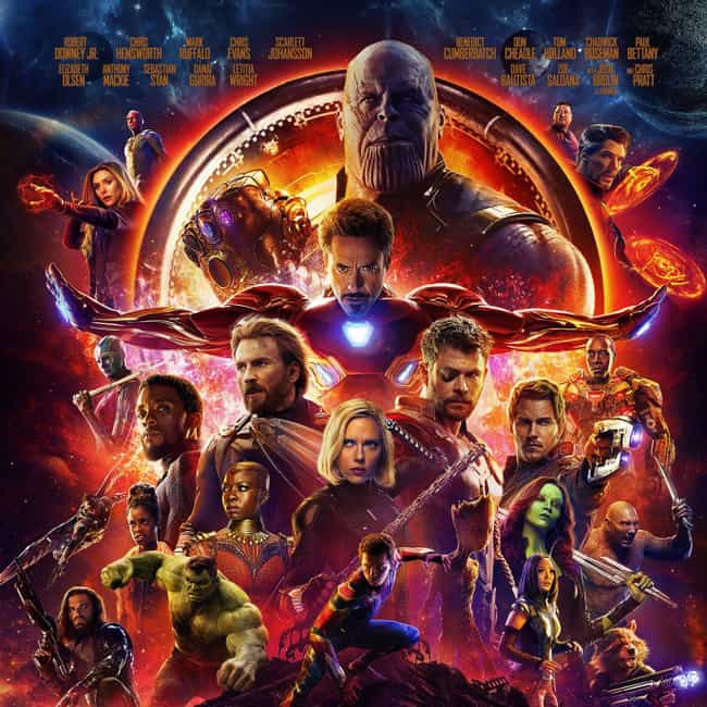 Avengers: Infinity War is listed (or ranked) 1 on the list The Best Movies In The Marvel Cinematic Universe, Ranked