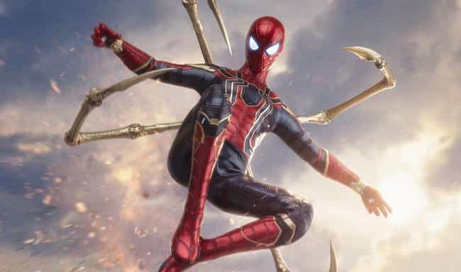 Avengers: Infinity War is listed (or ranked) 2 on the list Ranking Every Live-Action Spider-Man Costume