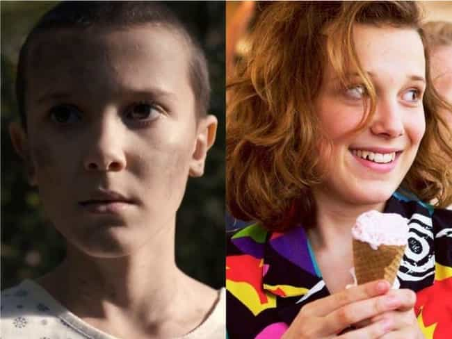 Millie Bobby Brown is listed (or ranked) 1 on the list How the Cast of 'Stranger Things' Aged Since The First Season