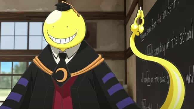 Koro-sensei is listed (or ranked) 3 on the list The 20 Most Inspirational Anime Quotes Of All Time