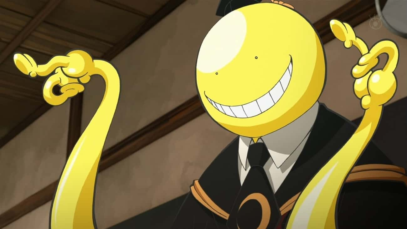 Koro-sensei Can't Be Defeated  is listed (or ranked) 3 on the list 13 Undefeated Anime Heroes Who Have Never Technically Lost A Fight