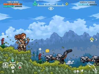 'Horizon Zero Dawn' As A 2D Si is listed (or ranked) 1 on the list Modern Video Games Reimagined With Gorgeous Retro Pixel Art