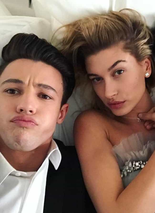 Cameron Dallas is listed (or ranked) 4 on the list Hailey Baldwin Loves And Hookups