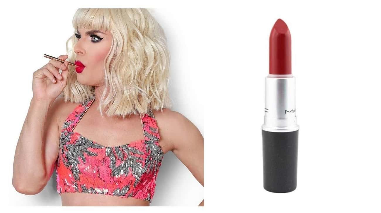Katya Wears MAC Lipstick In Ru is listed (or ranked) 4 on the list Your Favorite Drag Queens' Go-To Makeup Products