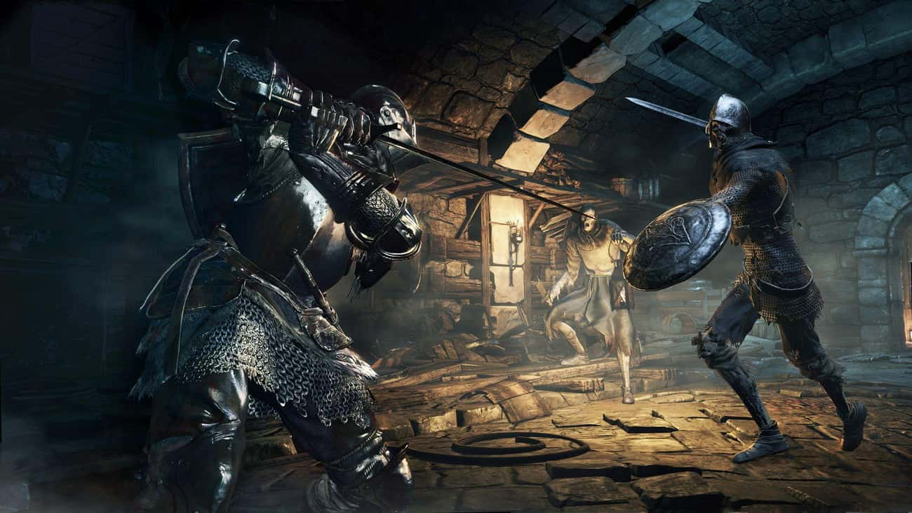 Dark Souls III is listed (or ranked) 3 on the list 15 PS4 Games That Are So Hard They'll Make You Want To Chuck Your Controller