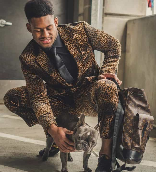 Juju Smith-Schuster is listed (or ranked) 1 on the list Adorable Photos Of NFL Players With Tiny Dogs