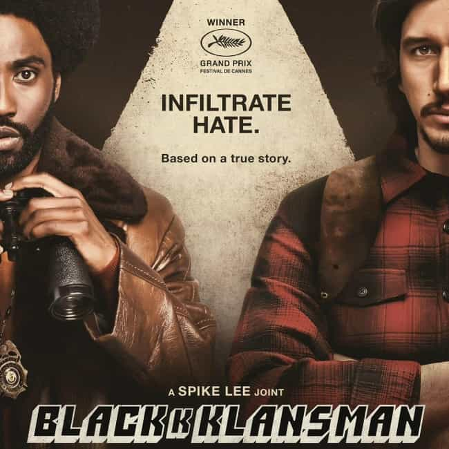 BlacKkKlansman is listed (or ranked) 4 on the list 2019 Golden Globe Best Motion Picture Nominees