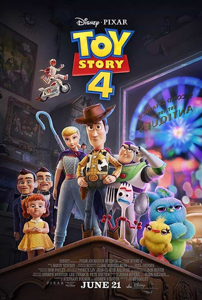 Toy Story 4 is listed (or ranked) 3 on the list All the Toy Story Movies (and Shorts), Ranked