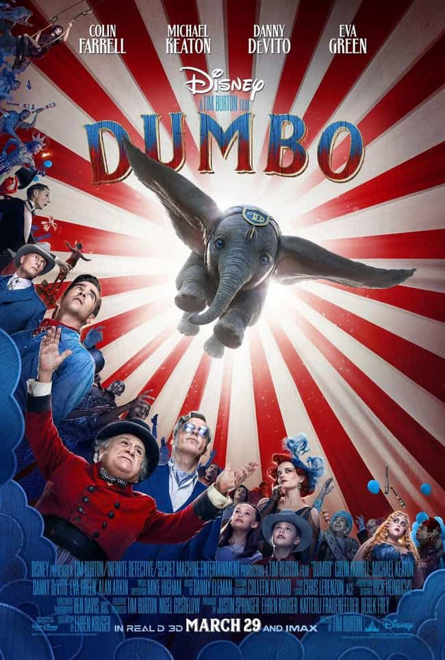 Dumbo is listed (or ranked) 3 on the list The Best Disney Live-Action Remakes Of The Last Few Years, Ranked