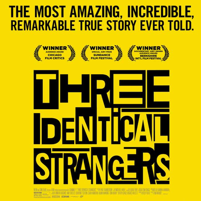 Three Identical Strangers is listed (or ranked) 4 on the list The Biggest 2019 Oscar Snubs, Ranked By Film Buffs