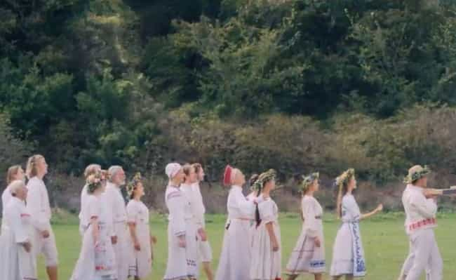 Midsommar is listed (or ranked) 1 on the list Details Most People Didn't Notice In The Background Of Horror Movies, Ranked
