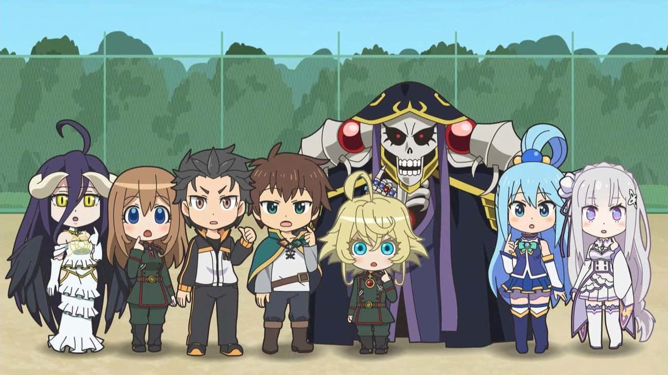 Isekai Quartet is listed (or ranked) 1 on the list The 13 Best Crossover Anime of All Time
